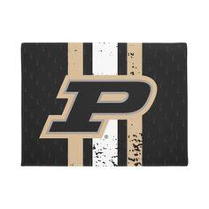 Purdue University Purdue Jersey Pattern Doormat Purdue University, Personalized Door Mats, Hand Painted Signs, Adulting, Create Yourself, Gender, Crafty, Age, Doormat