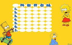 Výsledek obrázku pro rozvrh hodin simpsonovi