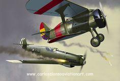 "Lt. Eckehardt Priebe's Bf 109B is shot down by a Polikarpov I-16 ""Chato"" over Castellón (Spain) on June 14, 1938."