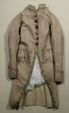 Coat National Trust Inventory Number 1349414.1 Date1760 - 1770 CollectionSnowshill Wade Costume Collection, Gloucestershire (Accredited Museum)