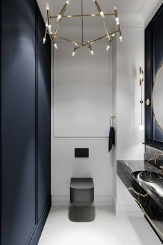 Home Decor 2019 Grey Based Neoclassical Interior Design With Muted & Metallic Accents.Home Decor 2019 Grey Based Neoclassical Interior Design With Muted & Metallic Accents Interior Neoclásico, Apartment Interior Design, Bathroom Interior Design, Interior Sketch, Modern Small Bathroom Design, Kitchen Interior, Grey Interior Design, Natural Interior, Modern Bathrooms