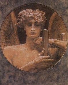Το Πενθουν Πνευμα, Νικόλαος Γύζης | Καμβάς, αφίσα, κορνίζα, λαδοτυπία, πίνακες ζωγραφικής | Artivity.gr