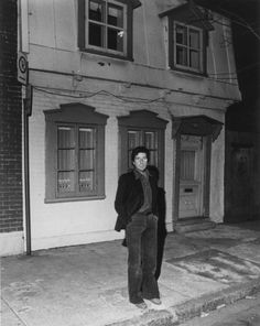 Leonard Cohen in front of his Montreal home in 1977. From Gazette ...