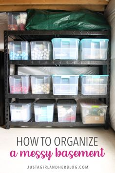 Take a tour of our organized basement, packed full of brilliant organization ideas to help you organize your own storage spaces! | #basement #basementorganization #organizedbasement #organized #storage #getorganized