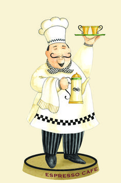 cartoon chef pictures for kitchen Chef Pictures, Kitchen Pictures, Chef Kitchen Decor, Kitchen Art, Cartoon Chef, Le Chef, Decoupage Paper, Tole Painting, Coffee Art