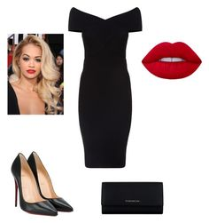 """Little black dress"" by innaboutsi on Polyvore featuring Maje, Christian Louboutin and Givenchy"