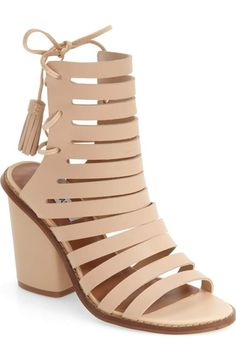 9cde453fb4e ✨NWOT✨Steve Madden caged lace up sandals✨ A bold block heel lifts a chic  cutout sandal with slim leather laces that tie at the back of your ankle.