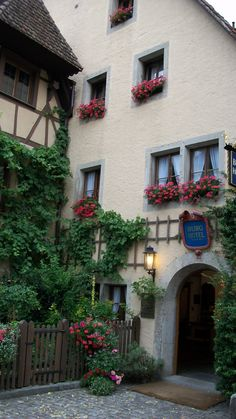 Rothenburg Germany  We stayed at this hotel and it was a magical experience. This is our favorite place in the whole world!