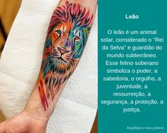 Leão Tattoos, Animals, Lion Tattoo Meaning, Meaning Tattoos, Wolf Tattoo Sleeve, Tattoo Meanings, Nail Stickers, Male Tattoo, Pictures
