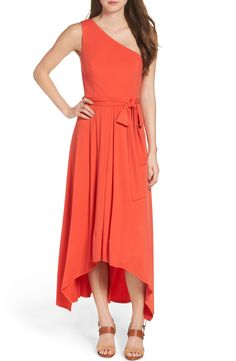 Main Image - Vince Camuto One-Shoulder Maxi Dress (Regular & Petite) Party Frock Designs, Poppy Dress, Party Frocks, Fit N Flare Dress, Nordstrom Dresses, Summer Dresses, Clothes For Women, Vince Camuto, Bodice
