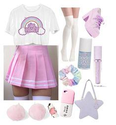 Designer Clothes, Shoes & Bags for Women Pastel Goth Fashion, Kawaii Fashion, Cute Fashion, Fashion Styles, Trendy Outfits, Cool Outfits, Fashion Outfits, Aesthetic Fashion, Aesthetic Clothes