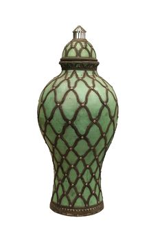 Asian type green jar by Digimaree