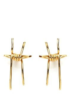 Rose Gold Barbed Wire Earring Rodarte jewelry obsessed