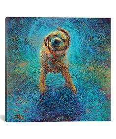 Iris Scott Shakin' Off the Blues Wrapped Canvas