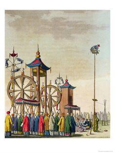 zancon gaetano - chinese circus illustration from le costum ancien et mod