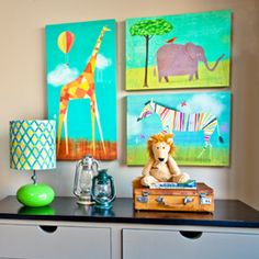 Melanie Mikecz canvas wall art for Oopsy daisy, Fine Art for Kids