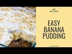 This is the ULTIMATE Easy Banana Pudding Recipe, made with butter cookies and fresh whipped cream. This no bake dessert is the perfect potluck recipe. Easy Banana Pudding, Banana Pudding Recipes, Vanilla Pudding Mix, Fluff Desserts, No Bake Desserts, Coconut Custard, Recipe Sites, Potluck Recipes, Baking Recipes