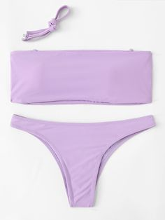 Stagioni Fashion for Women, Bikini Sets for Women. Item: Detachable Straps Bikini Set for Women Purple Triangle Bikini, Purple Bikini Set, Purple Swimsuit, Bandeau Swimsuit, Bikini Swimwear, Bathing Suits For Teens, Cute Bathing Suits, Purple Bathing Suit, Summer Bikinis