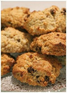 """Bake some mouth watering rock cakes (cookies) the family will love,only 6 ingredients (raisins,dried cherries,chips,coconut etc)they can be made in literally minutes. """"go to"""" afternoon treat. Guyanese Recipes, Jamaican Recipes, Guyanese Bake Recipe, Baking Recipes, Cake Recipes, Dessert Recipes, Desserts, Bread Recipes, Vegetarian"""