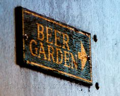 Beer Sign Bar Photo Beer Garden Print Drinking by HausofAriella, $12.00