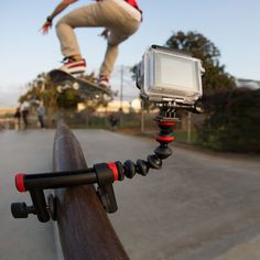 Joby Action Clamp for GoPro / The Joby Action Clamp, when used in conjunction with the GorillaPod Arm, serves as a flexible mount for your GoPro or other action cameras.  http://thegadgetflow.com/portfolio/joby-action-clamp-gopro/