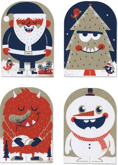 Tad Carpenter Christmas characters