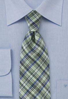 Corbata rombos verde azul
