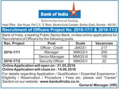 www.AllGovernmentjobs-Adda.com: BOI (Bank of India) employment Notification 2016 b...