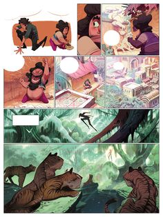 """Tales from the Cobra age"" comic book by Enrique Fernandez, via Behance"