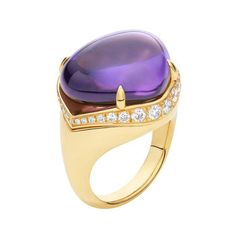 "Bulgari ""Mediterranean Eden"" Amethyst Ring with Diamond"