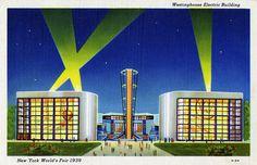 Westinghouse Electric Building, New York World's Fair, 1939 - Linen Postcard by Shook Photos, via Flickr