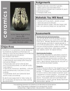 Ceramics I Syllabus