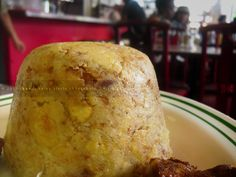 PUERTO RICO-Mofongo!!! Smashed plantains filled with whatever-- bistek/steak is good!