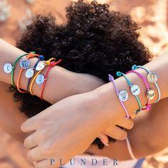 Plunder Design, Summer Jewelry, Adjustable Bracelet, Summer Colors, Bracelet Set, Vintage Inspired, Bling, Lady, Fashion