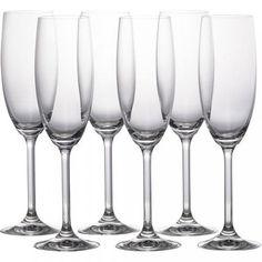 Jogo de 6 taças de champagne Roberta cristal transparente 220 m