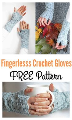 Beautiful Fingerless Gloves Free Crochet Pattern