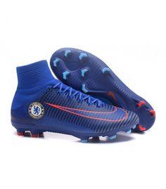 hot sale online 54d95 ec945 Acheter Chaussure Nike Mercurial Superfly 5 FG pour Hommes Chelsea FC Bleu  Orange pas cher en