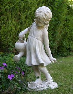 girl sitting garden statue - Google Search
