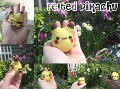 O.O ITS SOOO CUUUTEEE!!! Felted Pikachu by xxNostalgic on Etsy, via Etsy.