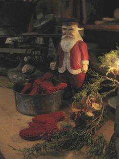Santa and mittens
