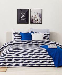new lacoste zonda lapis blue 100 cotton 3 piece king duvet 2 sham set