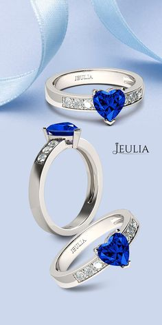 1.5CT Heart Cut Created Sapphire Engagement Ring #Jeulia