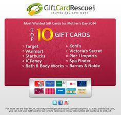 Buy discounted gift cards to over 400 popular merchants and save up to 35%. We also offer eCodes, which are electronic gift cards that you can use online and in-store.