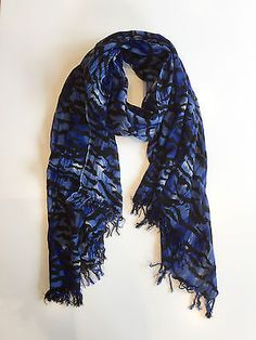 Alice by Temperley Exclusive Blue Tiger Scarf / Blue & Black / RRP: £270.00