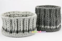 cestini uncinetto, cetini all'uncinetto, cestini uncinetto tutorial. ❉CQ #crochet #baskets