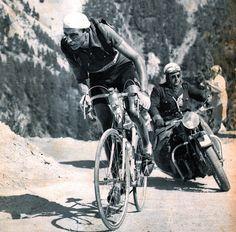 """pyreariege: """" Mon Tour de France 1959 Fausto Coppi dans l'Izoard qui fit la Une du MIROIR SPRINT du 27 juillet 1951 """""""