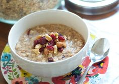 Cranberry, Almond, and Walnut Oatmeal Mix | Oh So Delicioso