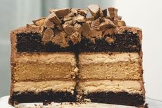 Chocolate Layer Cake - Peanut Butter Cup Chocolate Cake - Redbook