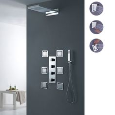 Cheap rain shower system, Buy Quality shower system directly from China waterfall rain Suppliers: 	Modern Bathroom Wall Mounted Waterfall Rain Shower System with Body Sprays,hand shower,shower head