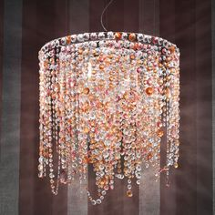 I've been meaning to make my own bead chandelier for a long time. I should really start cuz it might take a very long time. :D
